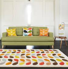 living room orla kiely multi: heals orla kiely multi stem rug rugs rugs living room