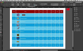autonumbered editable tables in indesign you flow chart shapes in indesign medium