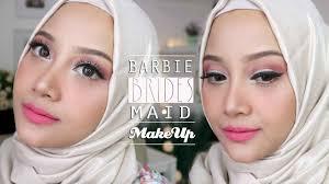 bridesmaid makeup sweet glam produk lokal indonesia dan pink barbie linda kayhz