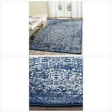 safavieh evoke collection evk256a vintage oriental navy and ivory area rug 3 x
