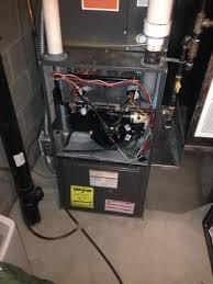 goodman heater. furnace replacement. remove 30 year old rheem standard efficient furnace. install a new goodman heater o