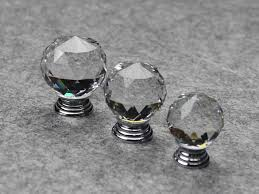 crystal furniture knobs. 30PCS Furniture Fittings K9 Clear Crystal Glass Cabinet Drawer Knobs Door Handle (Diameter: 30MM)-in Pulls From Home Improvement On Aliexpress.com A