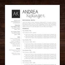 Free Modern Resume Templates Word