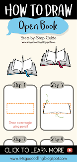 how to draw open book easy step by step tutorials drawing tutorials doodle letsoodling