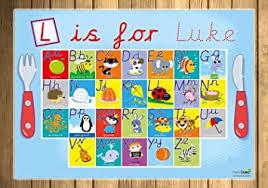 The 20 best phonetic alphabet programs for kids. Premium Cursive Font Phonetically Correct Children S Personalised Alphabet Placemat Blue Boys Girls Kids Amazon Co Uk Toys Games