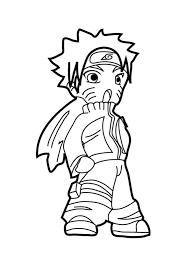 Naruto Coloring Pages Chibi Coloringstar