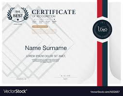 Certificate Recognition Certificate Of Recognition Frame Design Template