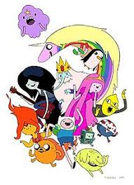 the main cast of adventure time drawn by former lead character designer andy ristaino top row lumpy e princess lady rainicorn gunter the penguin