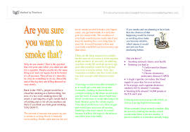 writing to persuade stop smoking leaflet a level english  document image preview