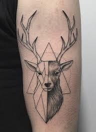 Geometric Deer Tattoo Tattoo Tatua