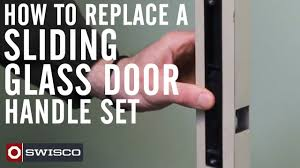 How To Replace A Sliding Glass Door Handle Set YouTube - Exterior lock for sliding glass door