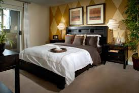 above bed lighting. Bedroom, Black And White Adult Bedroom Ideas Wooden Head Boards Recessed Lighting Design Brown Fur Above Bed