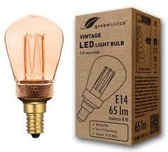 greenandco® E14 ST45 LED <b>Vintage Retro Filament Bulb Edison</b> ...