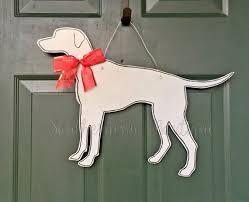 dog decor door hanger wreath