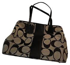Coach Satchel in Signature Black and Grey ...