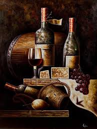 2018 set classical red wine bottle oil painting still life canvas printings on canvas wall art decoration picture from flaminglily 25 95 dhgate com