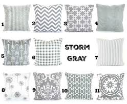 gray pillow covers decorative throw