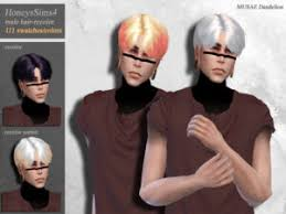 The Sims Resource: Emilia hairstyle by Alesso ~ Sims 4 Hairs