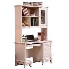european french provincial country style corner bookcase with desk