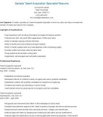 sample talent acquisition specialist resume - Staffing Specialist Resume