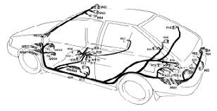 1991 hyundai excel wiring diagram and electrical system hyundai excel wiring diagram harness layout