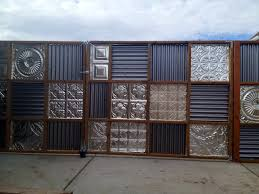 metal fence gate. Corrugated Metal Fence Gate