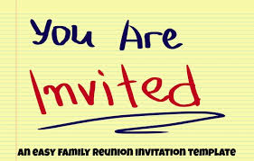 Easy Invitation Templates Family Reunion Invitation Template