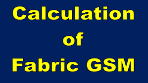 Gsm Conversion Chart Calculation Of Fabric Gsm Textile Calculation