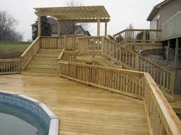 multi level deck design chesterfield mo es pool decks for above ground oval pools exterior images pool deck designs designs for level backyard