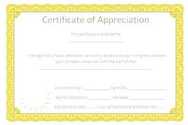 Employee Certificate Of Appreciation Certificates Of Recognition Templates Sample Certificate