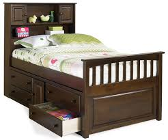 Bookcase Bedroom Furniture Paxton Bookcase Captains Bed Antique Walnut Bedroom Furniture
