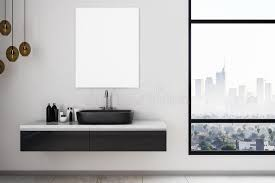 The sleek, cool design of modern style gives your room an uncluttered feel and creates an updated, refreshed and fun atmosphere. Modern Bathroom With Empty Poster Stock Illustration Illustration Of Empty Interior 114401642