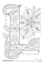 Coloring Pages Letter L Illuminated Letter L Colouring Page Coloring