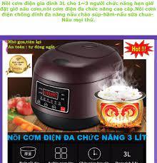 Nồi cơm điện mini đa năng 3 lít,nồi nấu cơm mini đa năng siêu tốc,nồi cơm  điện giá rẻ,4 in 1, Rẻ Hơn nồi cơm điện công  nghiệp,Cuckoo,Sharp,media,toshiba,lock and lock,....