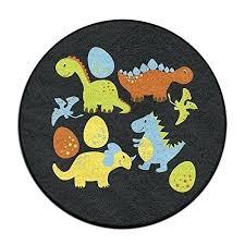 circle bathroom rugs four dinosaur cartoon rug mat round shower carpet bath shaped