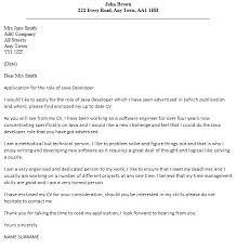 Java Cover Letter Under Fontanacountryinn Com