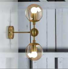 sconces gold wall sconce industry retro gold wall light modern loft wall lamp bean glass