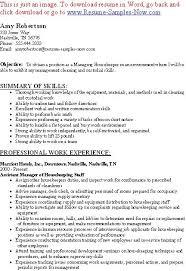 ... nanny housekeeper resume sample ...