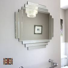 uk made art deco glass mirror