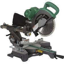 hitachi chop saw. hitachi 10-in 12-amp bevel sliding laser compound miter saw chop
