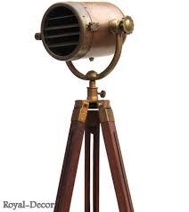 antique nautical searchlight marine floor lamp studio spotlight