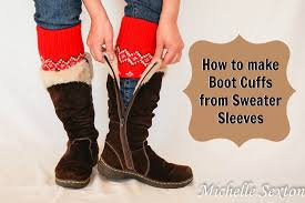 sweater boot cuffs from sleeves diy in 15 minutes or less so
