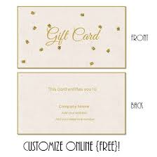 Gift Certificates Samples Gorgeous Free Printable Gift Card Templates That Can Be Customized Online
