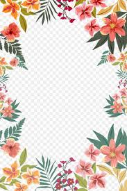 Paper With Flower Border Flower Paper Clip Art Png 3307x4961px Paper Border