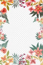 Flower Paper Clips Flower Paper Clip Art Png 3307x4961px Paper Border