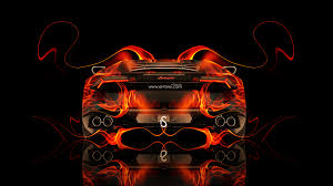 lamborghini huracan back fire abstract car