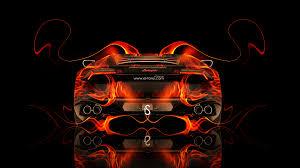 lamborghini huracan back fire abstract car