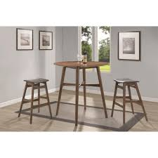 round walnut mid century modern bar table 101435 pictured with suggested bar stools sold separately mid century modern 195