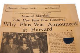 years ago a harvard commencement speech outlined the marshall marshall plan harvard