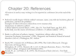 Example In Essays Example Of Referencing In An Essay Referencing In Essays Examples